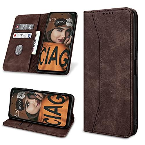 Yokata Handyhülle für Xiaomi Redmi Note 10 Pro/10 Pro Max Hülle Premium Leder Klappbar Klapphülle Flip Hülle Standfunktion Kartenfächern Lederhülle Magnetisch Stoßfest Schutzhülle Tasche 6,67