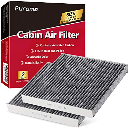 Puroma Cabin Air Filter with Activated Charcoal Layer Replacement for CP374, CF10374, Toyota 87139-YZZ09
