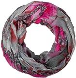 styleBREAKER Loop Schlauchschal in maritimen Muschelmuster, Crash and Crinkle, Tuch 01018023, Farbe:Grau-Pink-Braun