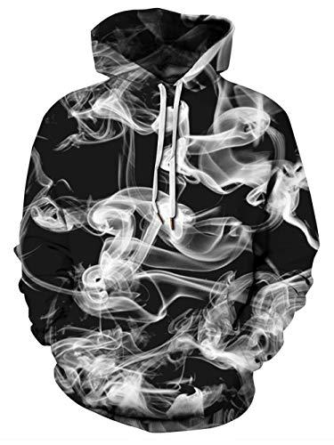 FLYILY Jungen Mädchen Hoodie Unisex 3D Druck Hoodies Pullover Kapuzenpulli Sweatshirt mit Drawstring Taschen