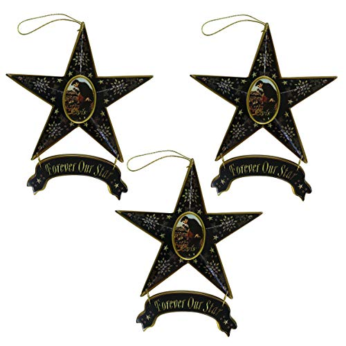 Elvis Presley Star Collectible Christmas Ornament 3-Piece Set, Forever Our Star