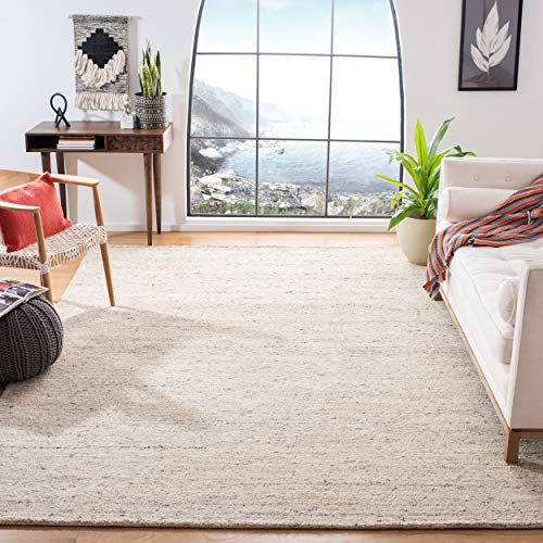 Safavieh Himalaya Collection HIM413A Handmade Premium Wool Area Rug, 8' x 10', Ivory