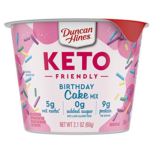 Duncan Hines Keto Friendly Cake Cups Birthday Cake Mix, 2.1 Oz