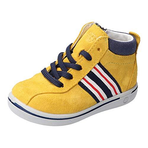 RICOSTA Kinder Lauflern Schuhe Johnny von Pepino, Weite: Mittel (WMS), schnürschuh schnürstiefelchen flexibel leicht Kinder,gelb,22 EU / 5.5 Child UK