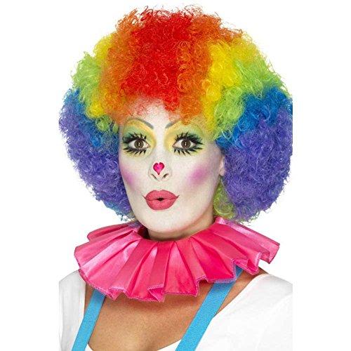 Smiffy's- Smiffys Colletto con Volant da Clown, Rosa per Adulti, Taglia unica, 46998