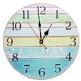 Asvert Reloj de Pared Silencioso Retro de Madera Vintage,Reloj Pared 30cm Reloj...