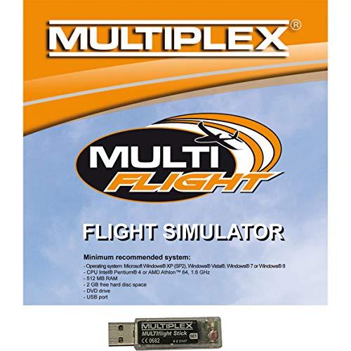 Preisvergleich Produktbild Multiplex - MULTI FLIGHT USB Stick mit MULTIFLIGHT PLUS Flugsimulator CD,  85165