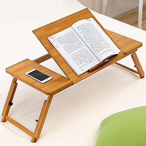 YLJJ Escritorio para computadora, Uso en la Cama Escritorio para computadora portátil Ajustable en Altura Plegable Escritorio de Estudio para Dormitorio, 88cm