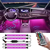 CT CAPETRONIX Interior Car Lights, LED Lights for Car with Remote & Box Control, 2-in-1 Waterproof Design, Music, DIY, RGB,Sound Active and Timing Function, Multicolor Under Dash Lighting Kits DC 12V