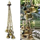 Campanas brujas, amuleto protección puerta, decoraciones cosas mágicas decoración altar Wicca, suministros brujería mágica, campanillas viento bohemias, adornos colgantes para porche, jardín, ventana