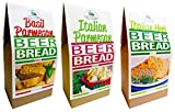 Rabbit Creek Beer Bread Mix Variety Pack of 3 – Italian Parmesan, Italian Herb & Basil Parmesan Beer Bread...