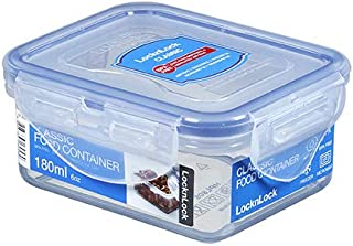 Lock & Lock Food Container   Rectangle   Polypropylene   180 ml   Clear