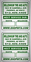 5000 Custom 2x2 Black, Green, Blue, Red Oil Change Labels Featuring Easy Do It Yourself Design with Our Select Premium Coated Synthetic Paper Stock