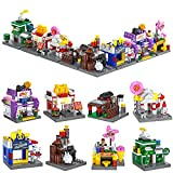 ZornRC 8 In 1 Store City Sets Building Blocks,Educational Building Brick Party Favors Creative House Building Kit for Kids 6-12 and Up(822 PCS)
