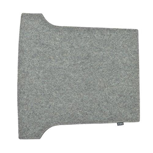 Sitzkissen für Louis Ghost Stuhl 2-lagig silbergrau