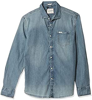Guess Top For Men, Denim - XL
