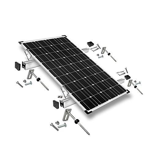 Offgridtec© Befestigungs-Set für 1 Solarmodul - Wellethernit- und Blechdach