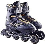 XIUWOUG Verstellbare Inline Skates, Rollerblades, ABEC-7-Chromstahllagern, Atmungsaktive, Rollschuhe Für Erwachsene Für Anfänger,Gold,XL(42~45)