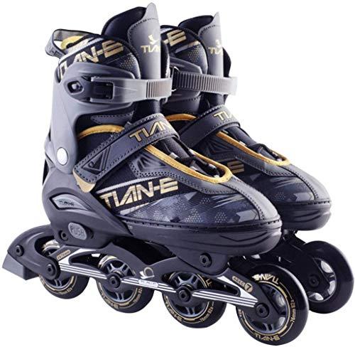 XIUWOUG Herren Damen Inliner Inlineskates | 82A Rollen | ABEC-7 Chrome Kugellager | Unisex Fitness Skates für Erwachsene,Gold,L (39~42)