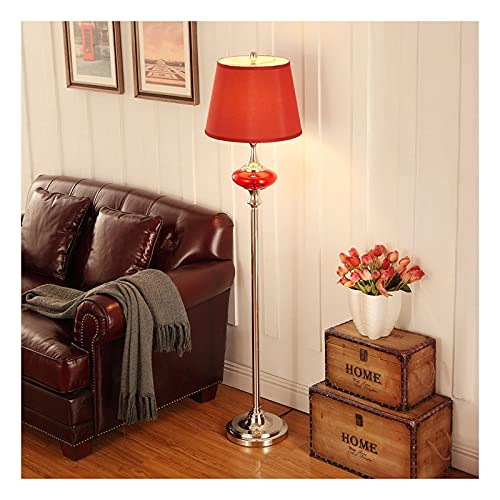 Indoor LED-vloerlamp eenvoudig ontwerp, moderne staande lamp met stof lampenkap, slaapkamer en woonkamer hoge paallamp…