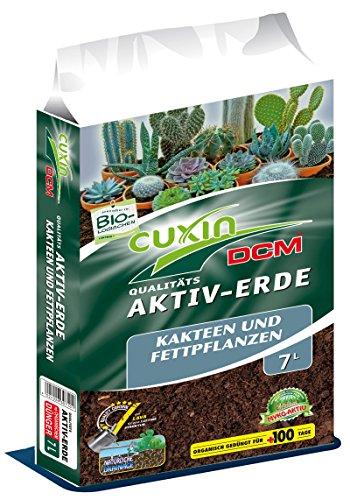 Cuxin 30710 Akitv-Erde für Kakteen und Fettpflanzen 7 Liter - Spezialerde mit Lava und Sand