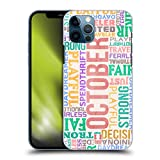 Head Case Designs Ottobre personalità dei Mesi di Nascita Cover Dura per Parte Posteriore Compatibile con Apple iPhone 12 / iPhone 12 PRO