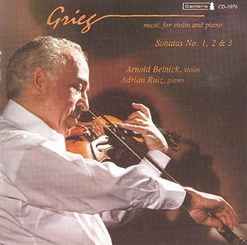 Grieg, E.: Violin Sonatas Nos. 1-3