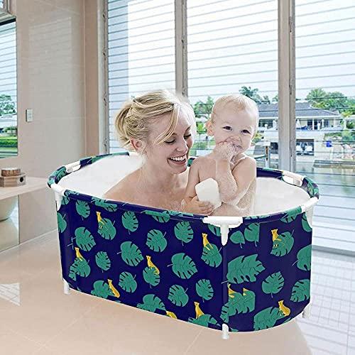 GL-GDD Bañera portátil para bañera, para ducha, plegable, plegable, para uso independiente, bañera de hidromasaje con almohada para espacios pequeños