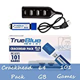 Searchyou True Blue Mini Crackhead Pack con 64G 101 Juegos para Playstation Classic