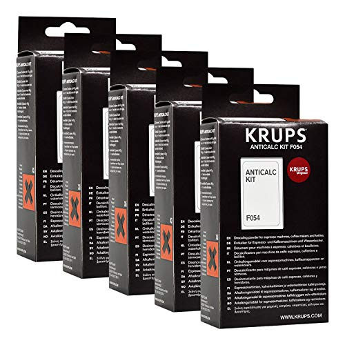 Krups Anticalc Kit* F054 antical, cal, cal limpiador, 5 Pack
