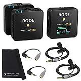 Rode Wireless GO II - Sistema de micrófono inalámbrico (2 canales, 2 Smartlav, 2 SC3 y paño de microfibra)