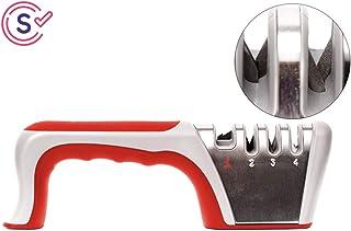 Self Ideas - Afilador de Cuchillos Profesional. Afilador Manual con 4 Funciones. Eficaz para Todo Tipo de Cuchillos de Cocina.