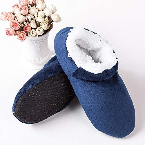 Zapatillas Casa Hombre Mujer Invierno Zapatillas De Mujer Zapatillas De Felpa para Interior Mantener Caliente Zapatillas De Casa Zapatillas De Casa De Suela Suave Mujer Zapatos De Piso Antidesliz