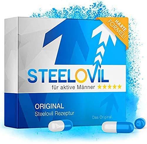 *NEU* STEELOVIL - Das Natürliche Potenzmittel mit der Einzigartigen Stiff-Power Formel I NEUTRALE LIEFERVERPACKUNG I 4 Hochdosierte Inhaltsstoffe (Ohne)