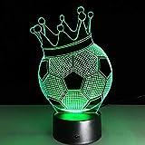 3D-Lichter Fußballclub Led Touch Lampe Fußball Nachtlicht 3D Tischlampe Schreibtisch Luminary...
