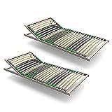 Lattenrost 90x200 verstellbar 7 Zonen 28 Leisten 2er Pack Härtegrad verstellbar Keine Montage fertig montiert