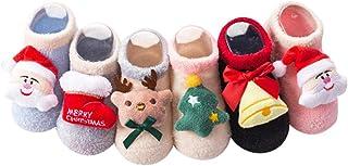 Frmarche, 2 pares de calcetines antideslizantes con diseño de Papá Noel