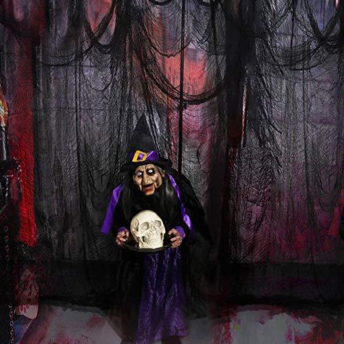 JWTOYZ Halloween Deko Stoff Gruseliges Tuch Dekostoff für Windows Tisch Türen