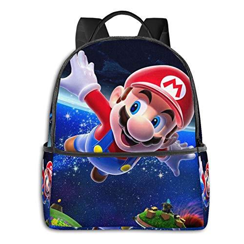Mario Mochila casual mochila escolar al aire libre clásica ligera resistente al desgarro portátil mochilas niñas niños adultos mochila