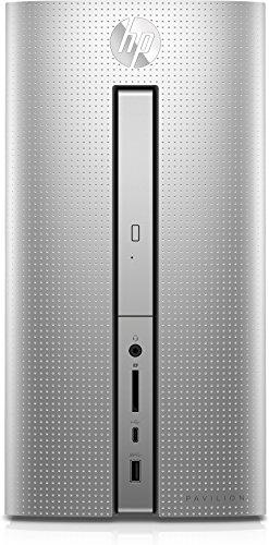HP Pavilion (570-p057ng) Desktop PC (Intel Core i3-7100, 8 GB RAM, 1 TB HDD, 128 GB SSD, Intel HD-Grafikkarte 630, DVD-Writer, Windows 10 Home 64) silber