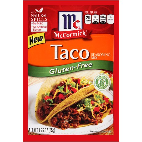 McCormick GLUTEN-FREE Taco Seasoning Mix 1.25oz (8 Pack)