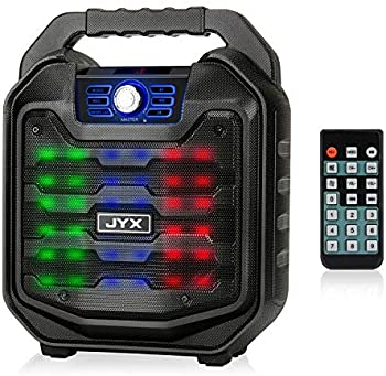 JYX Bluetooth Speaker with Sound Activated Light and Remote