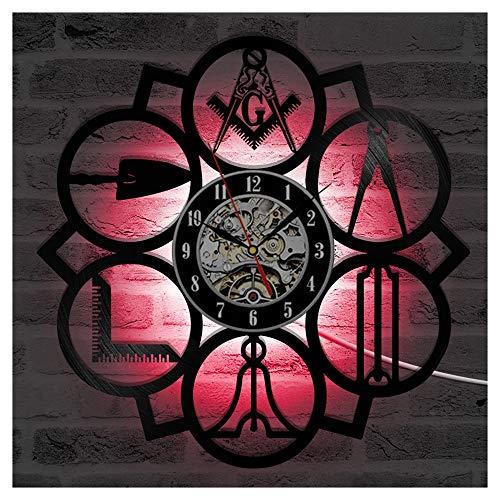 OLDFAI Reloj De Vinilo LED Registro Reloj, Patrón con Ebay