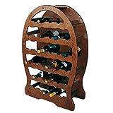 cantinetta portabottiglie 33 posti vino a botte in legno multistrato