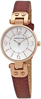 Anne Klein Ladies Rose Dial Pink Leather Watch 10-9442RGMV