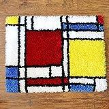 YANRUN Kit de alfombra de gancho de pestillo patrón de celosía...