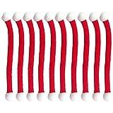 ABOOFAN 10 Unids Mini Bufandas de Punto de Navidad Perro Gato Bufanda para Mascotas Botella de Vino de Navidad Decoraciones de Regalo Encantos de Copa de Vino Rojo