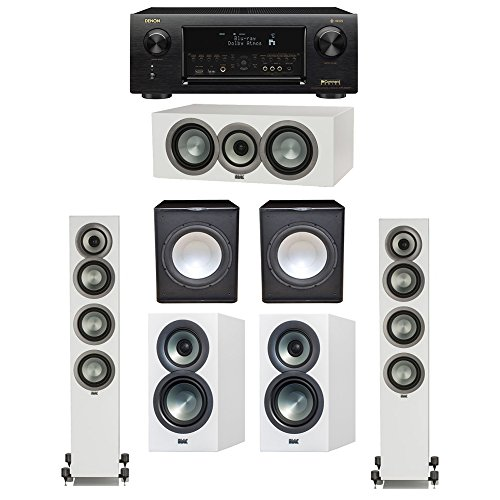 Best Review Of ELAC Uni-Fi Slim White 5.2 System with 2 ELAC FS-U5 Floorstanding Speakers, 1 ELAC CC...