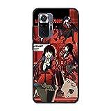 Coque fine en TPU pour Xiaomi Redmi Note 10 Pro-Anime-Kakegurui Jabami-Yumeko 3 Noir mat