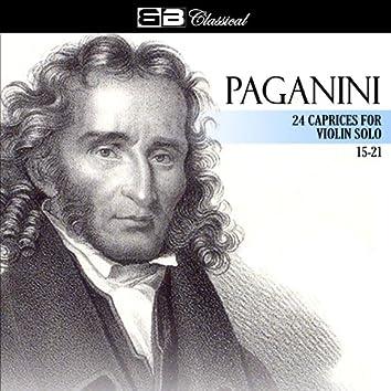 Paganini 24 Caprices for Violin Solo 15-21